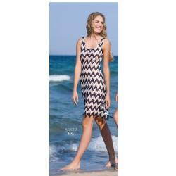 Πλεκτό Φόρεμα Παραλίας από την ελλ. εταιρία Harmony σε καλοκαιρινό navy  χρώμα 7d763c4c390