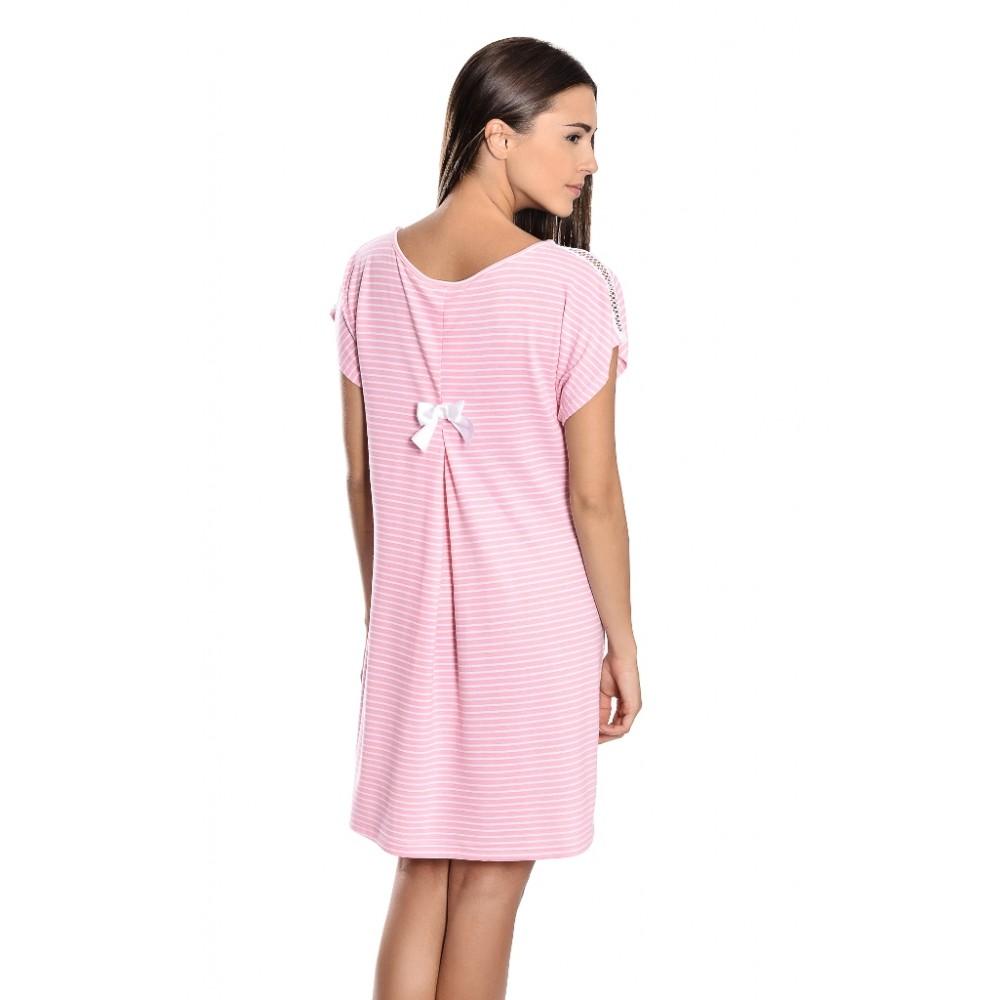"Jeannette Βαμβακερή Νυχτικιά σε νεανική γραμμή ""Αλφα"" με κουφόπιετα στη πλάτη, σε  δύο χρώματα, Jeannette  6221"