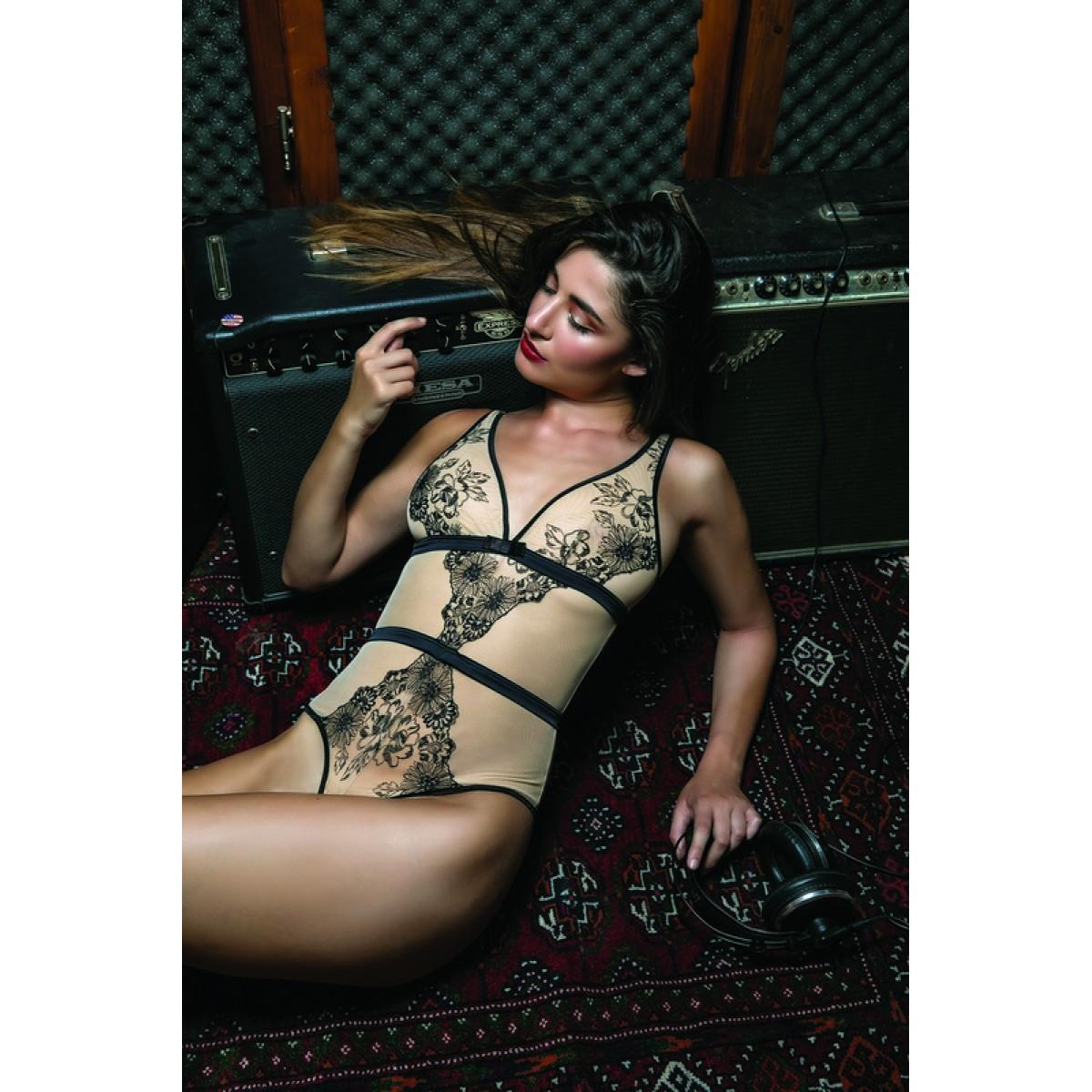 -10% Εξαντλημένο Miss Rosy 7263 Brasil Κορμάκι Lingerie σε εφέ tattoo σε  αποχρώσεις nude μαύρο - Σέξι cafbdc90b3c