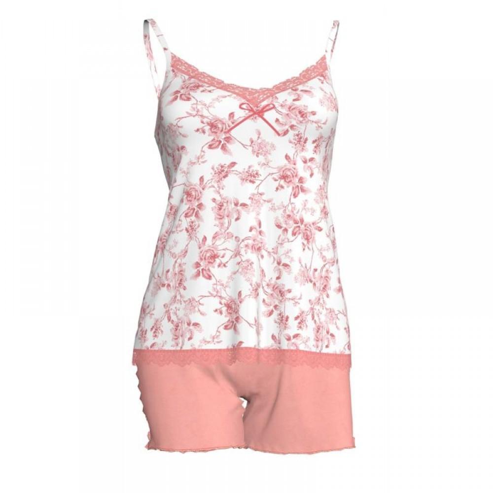 Baby Doll από απαλό ύφασμα micromodal για απίθανη αίσθηση απαλότητας, σε όμορφο floral σχέδιο, VAMP 5909