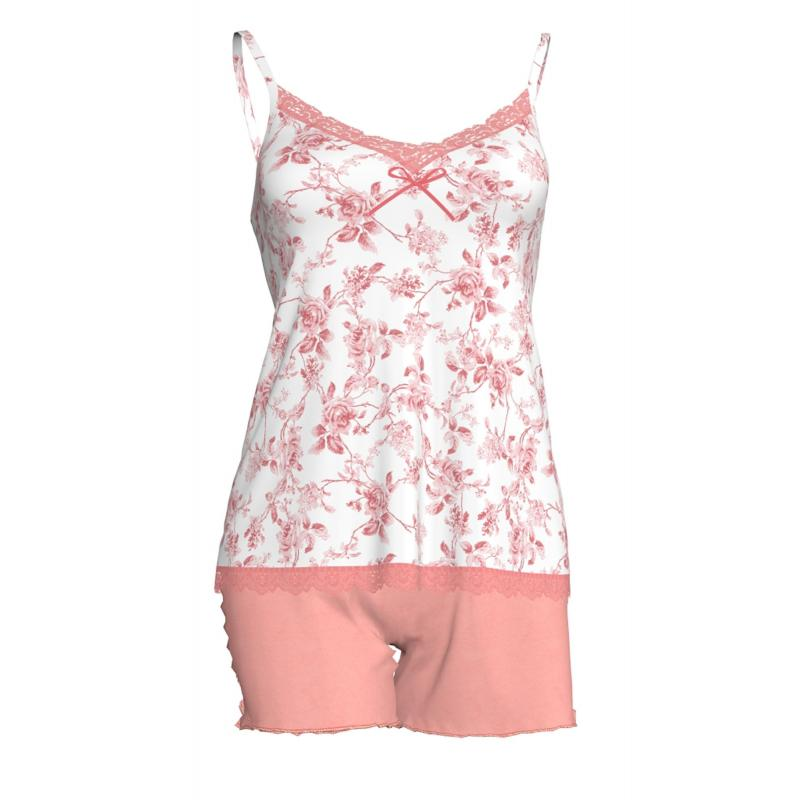 Baby Doll από απαλό ύφασμα micromodal για απίθανη αίσθηση απαλότητας, σε όμορφο floral σχέδιο, VAMP 5909 - Καλοκαιρινές πυζάμες
