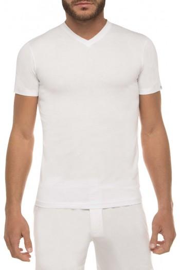 Ανδρικό T-Shirt Walk Bamboo 1991 με V-NECK σε Μαύρο και Άσπρο με λαιμόκοψη