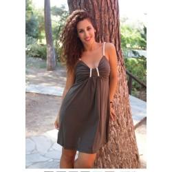 ff8ee60d0af5 Βαμβακερό καλοκαιρινό φόρεμα με τιράντα και όμορφο σχέδιο στο μπούστο